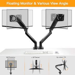 Dual Monitor Stand Mount w/USB, Ultrawide Computer Screen