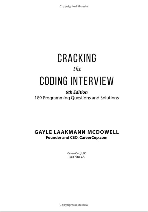 Craking code interview