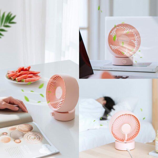 SB Desk Fan, Small Personal Desktop Table Fan with Strong Wind